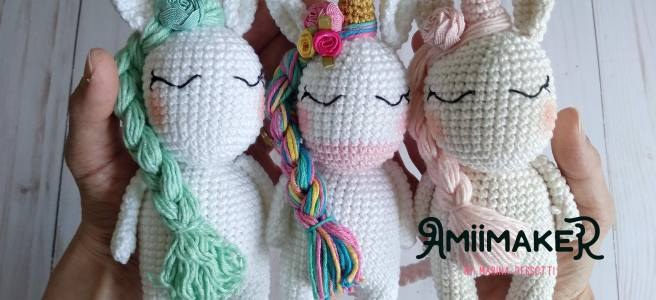 Amigurumi Licorne crochet 2/2 / Unicorn amigurumi crochet (english ... | 300x656